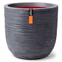 Capi Vaso Nature Rib redondo 35x34 cm cinzento-escuro