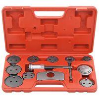 vidaXL 13 pcs kit de ferramentas recuo pistão pinça do travão de disco