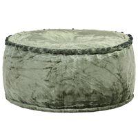 vidaXL Pufe redondo 40x20 cm veludo verde