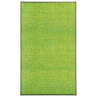 vidaXL Tapete de porta lavável 90x150 cm verde