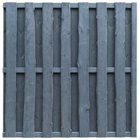 vidaXL Painel de vedação 180x180 cm madeira de pinho cinzento