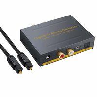 Conversor digital para analógico - 2 Toslink / 2 coaxiais para RCA R /