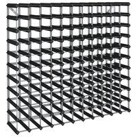 vidaXL Garrafeira para 120 garrafas madeira de pinho maciça preto