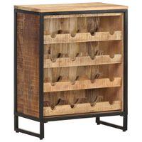 vidaXL Garrafeira 62x33x78,5 cm madeira de mangueira áspera