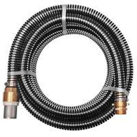 vidaXL Mangueira de sucção com conectores de latão 10 m 25 mm preto