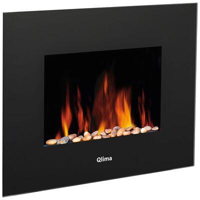 Qlima Aquecedor elétrico com efeito de chamas EFE 2018 1800 W preto