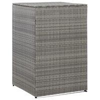 vidaXL Unidade arrumação caixotes lixo 76x78x120 cm vime PE antracite