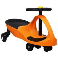 vidaXL Triciclo sem pedais com buzina laranja