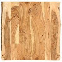 vidaXL Tampo de mesa 60x(50-60)x2,5 cm madeira de acácia maciça