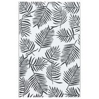 vidaXL Tapete de exterior 80x150 cm PP branco e preto