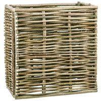 vidaXL Floreira de jardim 80x40x80 cm madeira de aveleira