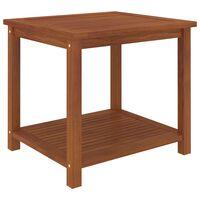 vidaXL Mesa lateral em madeira de acácia maciça 45x45x45 cm