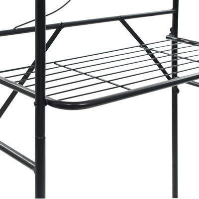 vidaXL Toalheiro preto 60x33x174 cm