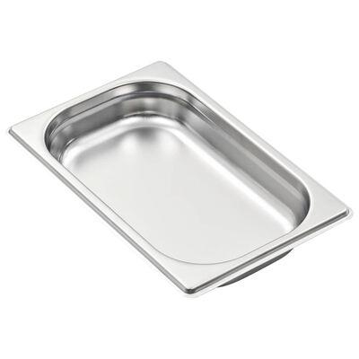 vidaXL Recipientes gastronorm 12 pcs GN 1/4 40 mm aço inoxidável