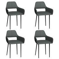 vidaXL Cadeiras de jantar 4 pcs couro artificial cinzento
