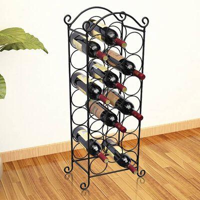 Prateleira metálica para 21 garrafas de vinho