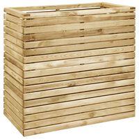 vidaXL Vaso/floreira jardim 100x50x100 cm madeira de pinho impregnada