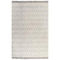 vidaXL Tapete Kilim algodão 120x180 cm com padrão cinzento-acastanhado