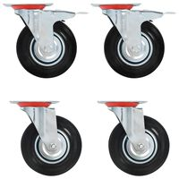 vidaXL 32 pcs rodas giratórias 125 mm