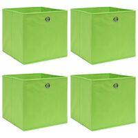 vidaXL Caixas de arrumação 4 pcs 32x32x32 cm tecido verde