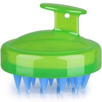 Escova Para Massagem E Peeling Do Couro Cabeludo Verde