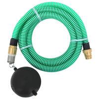vidaXL Mangueira de sucção com conectores de latão 5 m 25 mm verde