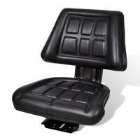 vidaXL Assento de trator com encosto preto