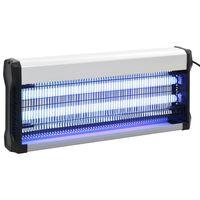 vidaXL Eletrocutor de insetos alumínio ABS 40 W preto