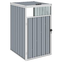 vidaXL Abrigo para caixote do lixo 72x81x121 cm aço cinzento