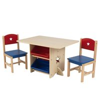 KidKraft Conjunto de mesa e 2 cadeiras com estrelas