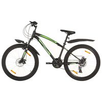 vidaXL Mountain Bike 21 Speed 26 inch Wheel 36 cm Black (92353+92356)
