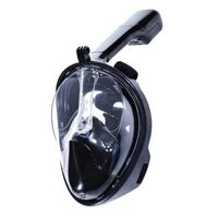 Máscara de snorkel com suporte GoPro preto L / XL
