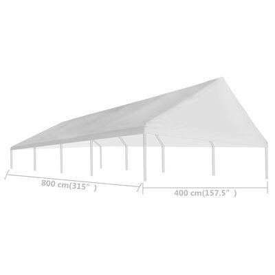vidaXL Teto para tenda de festas 4 x 8 m branco