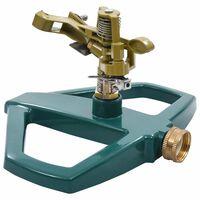 vidaXL Aspersor rotativo 21x22x13 cm metal verde