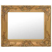 vidaXL Espelho de parede estilo barroco 50x40 cm dourado