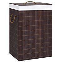 vidaXL Cesto para roupa suja 72 L bambu castanho
