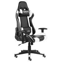 vidaXL Cadeira de gaming giratória PVC branco