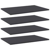 vidaXL Prateleiras para estante 4 pcs 60x40x1,5cm contraplacado cinza