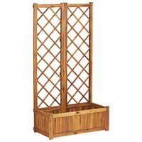 vidaXL Floreira com treliça 80x38x150 cm madeira acácia maciça