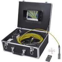 VidaXL Câmara p/ inspeção de tubagens 30 m com caixa de controlo DVR