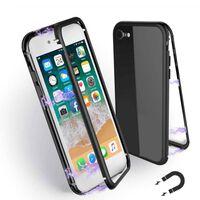 Capa magnética para iPhone 7 / iPhone 8 - vidro / metal preto