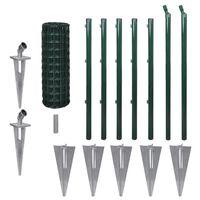 vidaXL Cerca 10 x 0,8 m aço verde