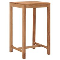 vidaXL Mesa de bar para jardim 60x60x105 cm madeira de teca maciça
