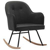vidaXL Cadeira de baloiço veludo cinzento-escuro