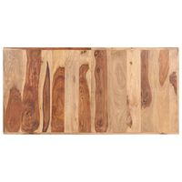 vidaXL Tampo de mesa madeira de sheesham maciça 16 mm 140x70 cm
