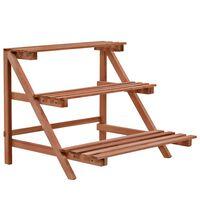 vidaXL Suporte para plantas de 3 níveis madeira de cedro 48x45x40 cm