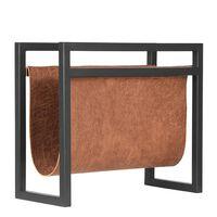 LABEL51 Porta-revistas 45x20x38 cm conhaque