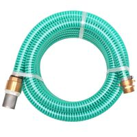 vidaXL Mangueira de sucção com conectores de latão 10 m 25 mm verde