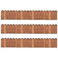 vidaXL Bordaduras em rolo 3 pcs 120 cm madeira de pinho impregnada