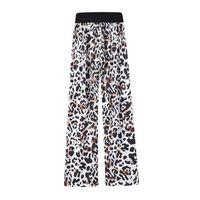 Calças macias padrão leopardo branco / preto / marrom (XXXL)